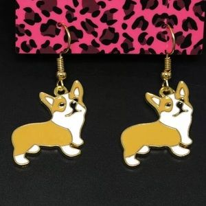 NWT Betsey Johnson Corgi Dog Earrings